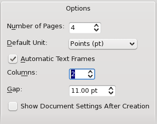 """Options in New Document Dialog"""