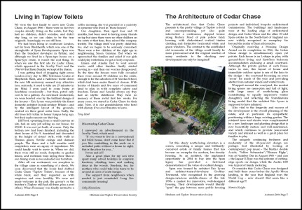 First spread of Taplow Newsletter