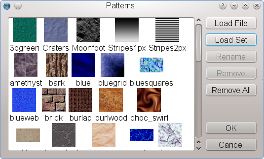"""Importing/creating patterns"""