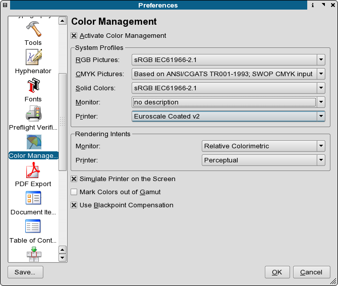 """Scribus CMS settings for the monitor profile"""