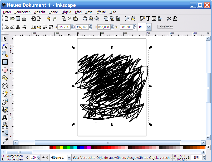 Import in Inkscape